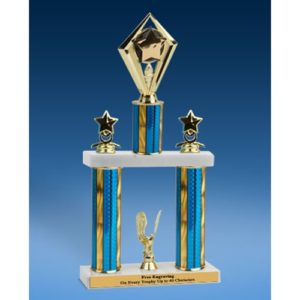 Star Diamond 2 Tier Trophy 19""