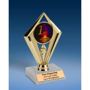 "1st Place Sport Diamond Trophy 6"""
