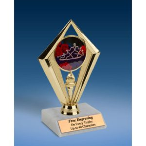 Beauty Pageant Sport Diamond Trophy 6""
