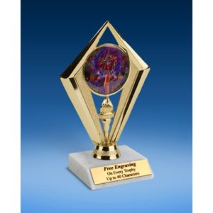Cheerleading 2 Sport Diamond Trophy 6""