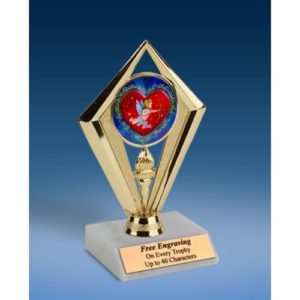 Cupid Sport Diamond Trophy 6""