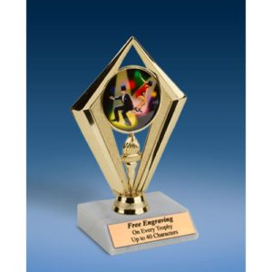 Dance Sport Diamond Trophy 6""