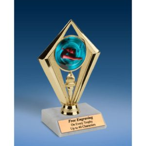 Diving Female Sport Diamond Trophy 6""