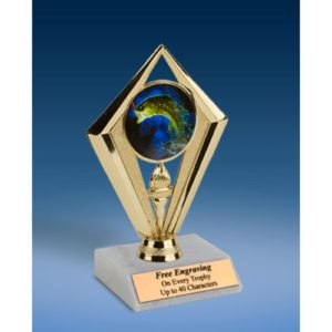 Fishing Sport Diamond Trophy 6""