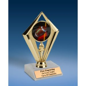 Football Sport Diamond Trophy 6""
