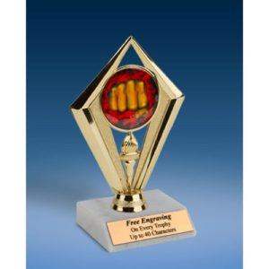 Martial Arts Sport Diamond Trophy 6""