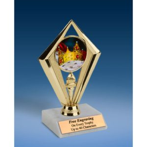 Prom King Sport Diamond Trophy 6""