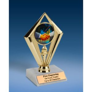 "Sales Sport Diamond Trophy 6"""