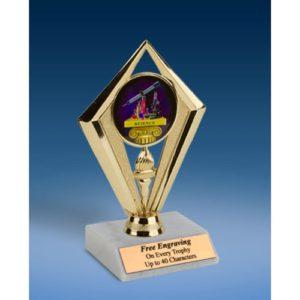 "Science Sport Diamond Trophy 6"""
