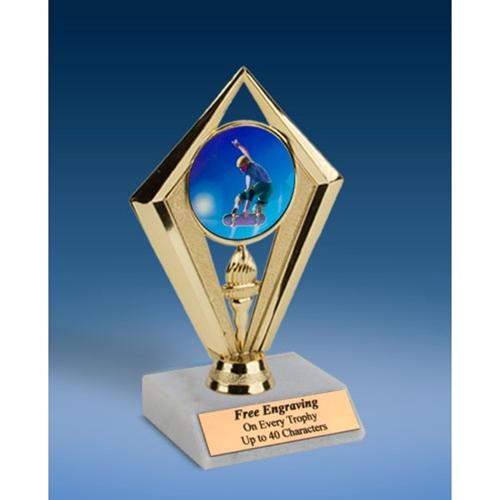 """Skateboarding Sport Diamond Trophy 6"""""""