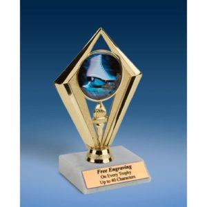 "Skating Sport Diamond Trophy 6"""