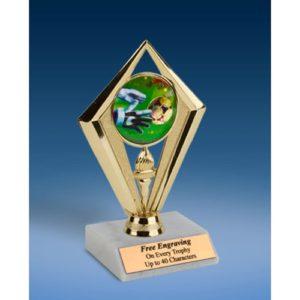 """Soccer 3 Sport Diamond Trophy 6"""""""