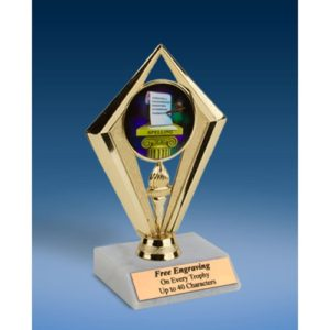 Spelling Sport Diamond Trophy 6""