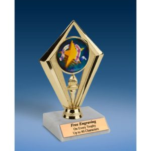 Sportsmanship Sport Diamond Trophy 6""
