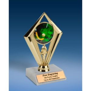 Field Hockey Sport Diamond Trophy 6""