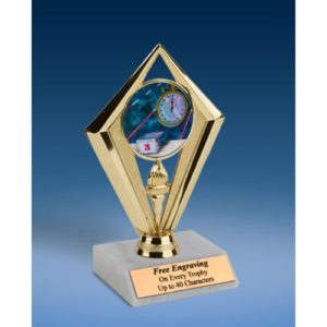 "Swimming Sport Diamond Trophy 6"""