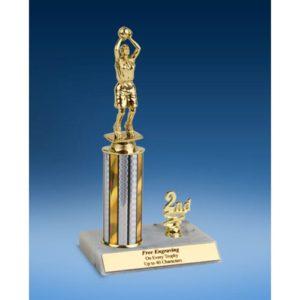 "Basketball Sport Figure Trim Trophy 10"""