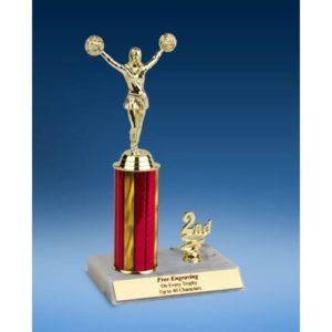 """Cheerleading Sport Figure Trim Trophy 10"""""""