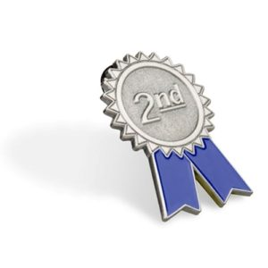 2nd Place Lapel Pin