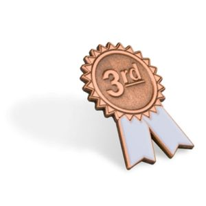 3rd Place Lapel Pin