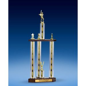 Baseball Sport Figure Three-Tier Trophy 25""