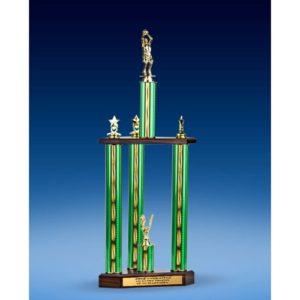 "Basketball Sport Figure Three-Tier Trophy 25"""