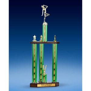 Dance Sport Figure Three-Tier Trophy 25""