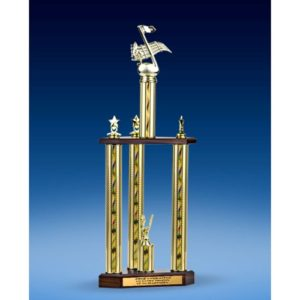 "Music Sport Figure Three-Tier Trophy 25"""