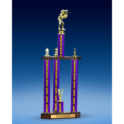 Paintball Sport Figure Three-Tier Trophy 25""