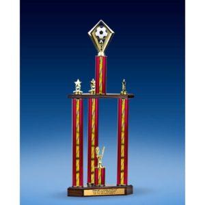 "Soccer Diamond Three-Tier Trophy 25"""