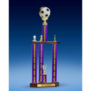 Soccer Soft Spinner Ball Three-Tier Trophy 25""