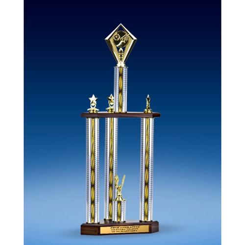 "Track Diamond Three-Tier Trophy 25"""