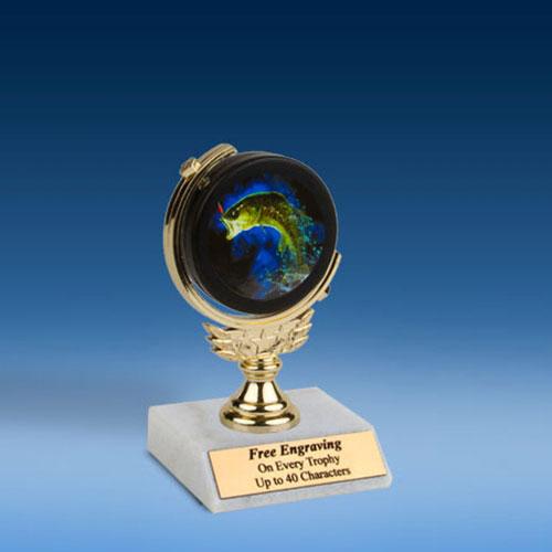 "Fishing Soft Spinner Mylar Holder Trophy 6""-0"
