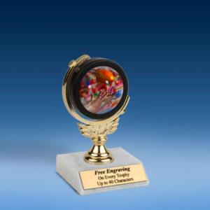 """Football 2 Soft Spinner Mylar Holder Trophy 6""""-0"""