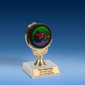 "Hot Rod Soft Spinner Mylar Holder Trophy 6""-0"