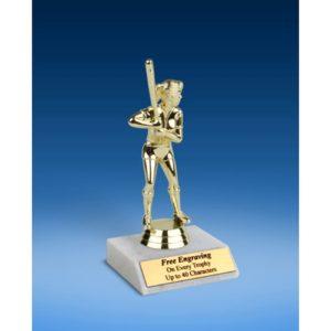 "Softball Sport Figure Trophy 6"""