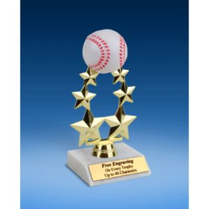 Baseball Rising Star Trophy 7""
