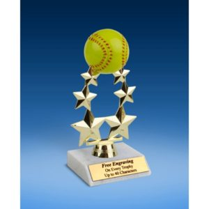 "Softball Rising Star Trophy 7"""