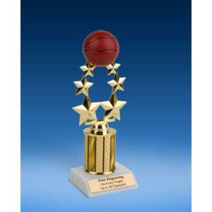 "Basketball Rising Star Trophy 9"""