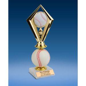 Baseball Diamond Soft Spinner Riser Trophy