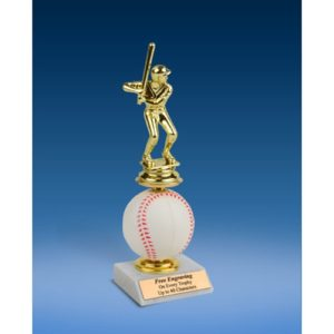 Baseball Sport Figure Soft Spinner Riser Trophy