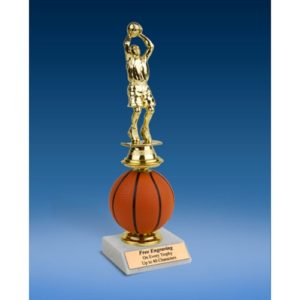 Basketball Sport Figure Soft Spinner Riser Trophy