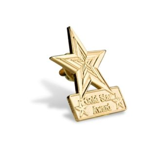Gold Star Award Lapel Pin