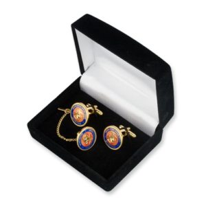 Marine Corps Cufflinks and Tie-Tack Set