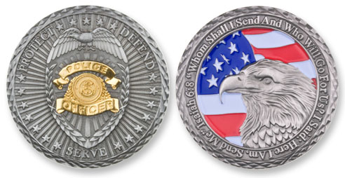 Police Officer Coin