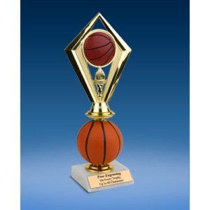 Basketball Diamond Soft Spinner Riser Trophy