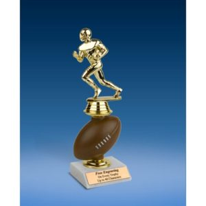 Football Sport Figure Soft Spinner Riser Trophy