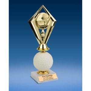 Golf Diamond Soft Spinner Riser Trophy