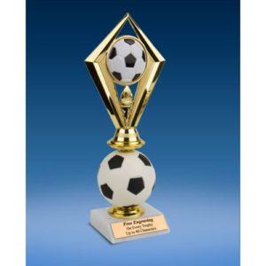 Soccer Diamond Soft Spinner Riser Trophy