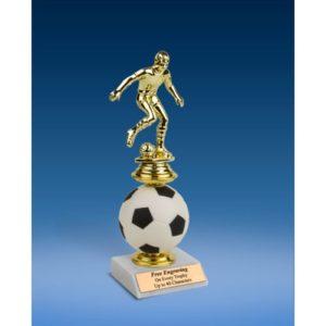 Soccer Sport Figure Soft Spinner Riser Trophy